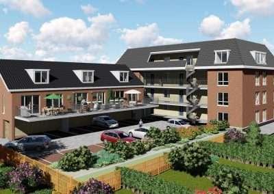 12 appartementen en 3 eengezinswoningen te Bergschenhoek